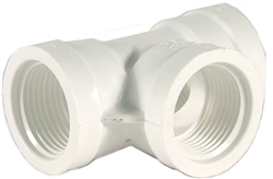 "Schedule 40 PVC Tee 1-1/2"" Thread"