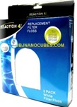 JBJ Reaction 4-Stage Canister Filter Replacement Filter Floss, 3-Pack
